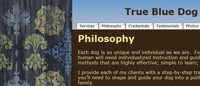 Dog Trainer's Website